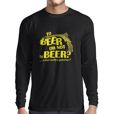 lepni.me Langarm Herren t Shirts Zum Bier oder - Lustige Geschenke, Bier-trinkendes  Party-Hemd, sarkastischer Alkohol-Spaß: Amazon.de: Bekleidung
