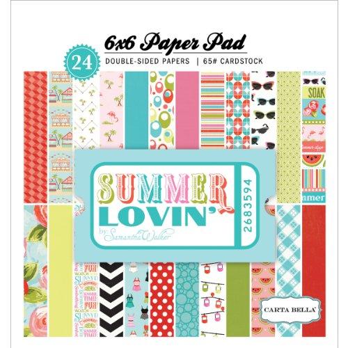 Carta Bella Paper Company CBSU28023 Summer Lovin' Paper Pad for Scrapbooking