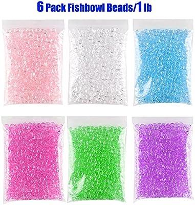 6 Pack Mutilcolor pecera cuentas para Slime total 1 libra cuentas boda y fiesta de llenado de plástico Jarrón Decoración