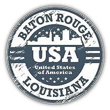 Baton Rouge City USA Grunge Stamp Vinyl Decal Bumper Sticker 5'' X 5''