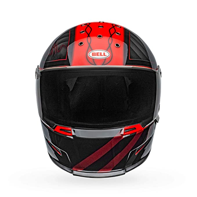 Amazon.es: Bell Eliminator Outlaw - Casco integral para motocicleta, talla M, color negro y rojo