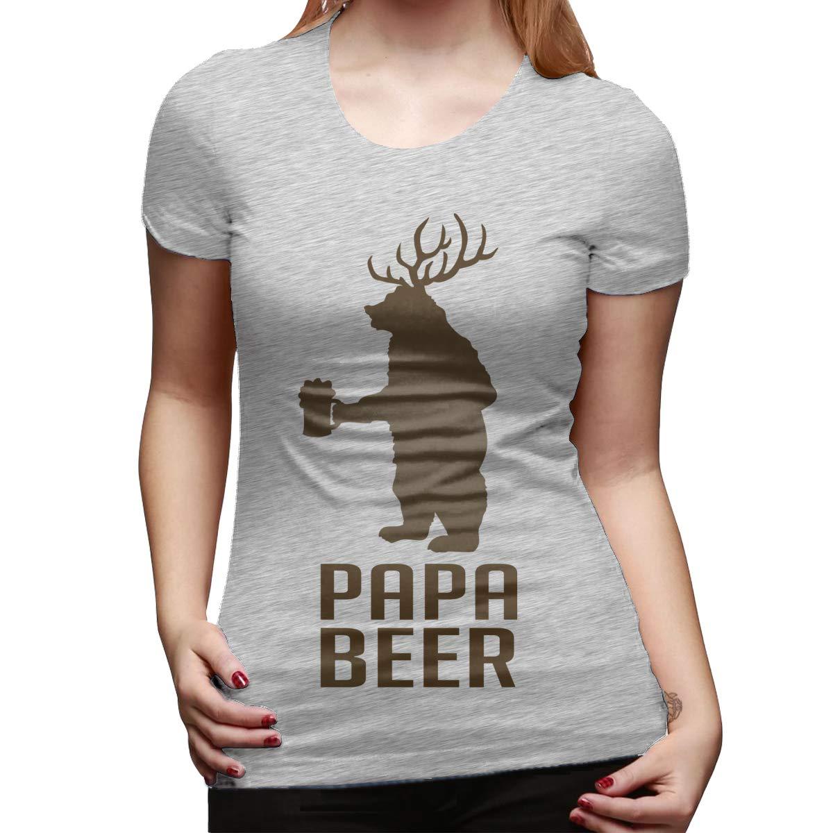 Kian Personalized Tee Papa Beer Bear Short Sleeve Cool Tshirts Black