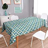 Philiphome Printed Fabric Tablecloth Islamic Pattern Washable Polyester 52''x70''