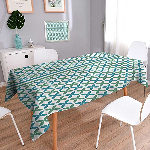 Philiphome Printed Fabric Tablecloth Islamic Pattern Washable Polyester 52''x70'' by Philiphome
