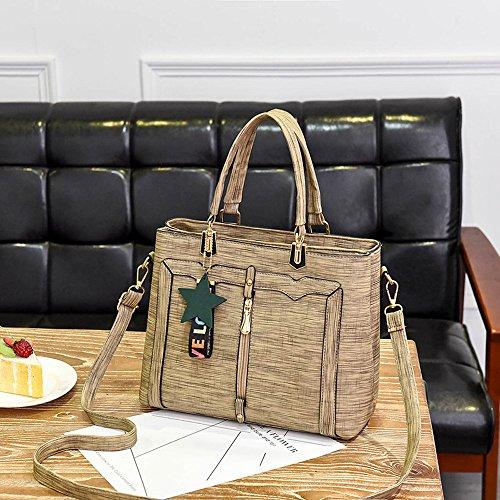 Khaki Vida Mano Hombro Bolsos Sencillo Desigual Mujer mochila Fiesta Handbag Shoulder Bandolera Bolso De Bag A54 Viaje dz11qHa