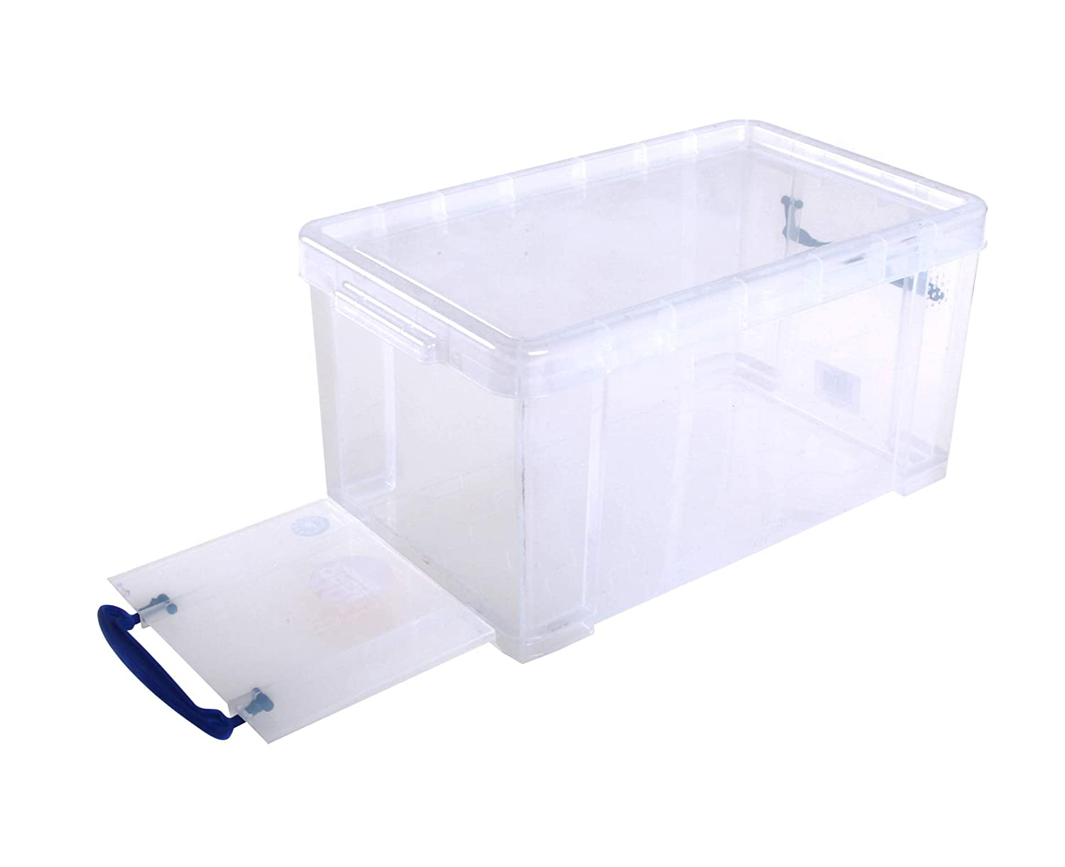 Amazon Com Really Useful Box Plastic Storage Box  1  3  3 4 Clear Office Products
