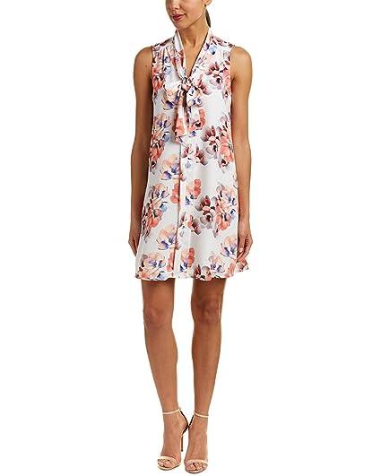 b8e13da1022be CeCe Women's Sleeveless Garden Blooms Tie Neck Swing Dress New Ivory Dress