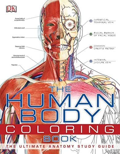 The Human Body Coloring Book: The Ultimate Anatomy Study Guide
