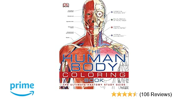 The Human Body Coloring Book Ultimate Anatomy Study Guide 8589097777771 Medicine Health Science Books Amazon