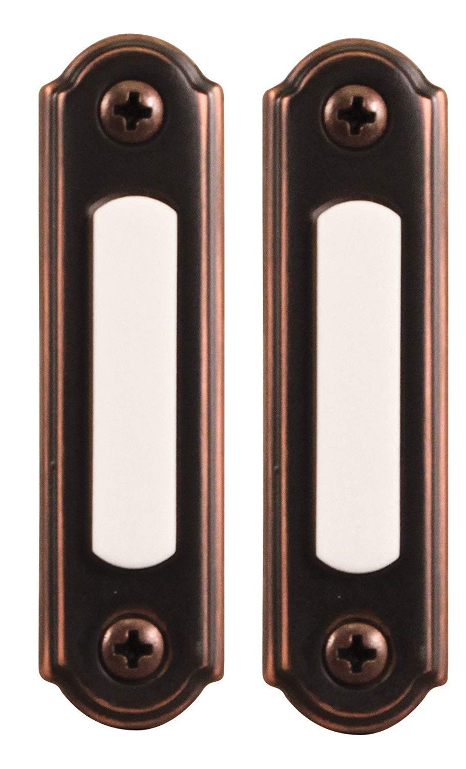 Heath Zenith SL-257-02 Wired Push Button, Oiled-Rubbed Bronze (2.(Pack))