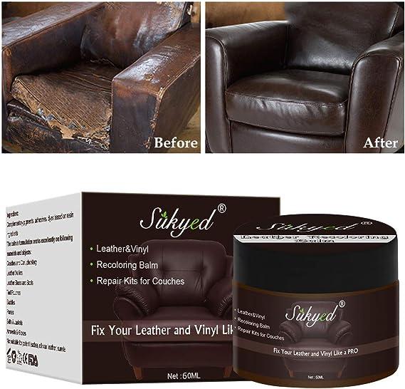 Toulifly Crema De Reparación De Cuero,Crema de Renovación de Cuero,Crema Reparadora De Cuero,por Restauración de Color de Equipaje,Sofás, Ropa, Los ...