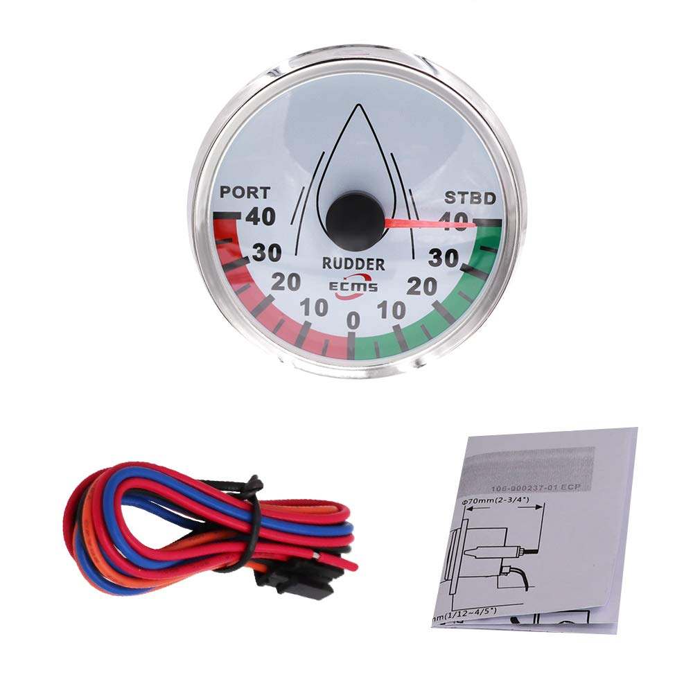 CT-CARID 85mm Rudder Angle Gauges Modification 0-190ohm Waterproof Marine Boat Instrument for Boat Yacht Marine Accessories by CT-CARID