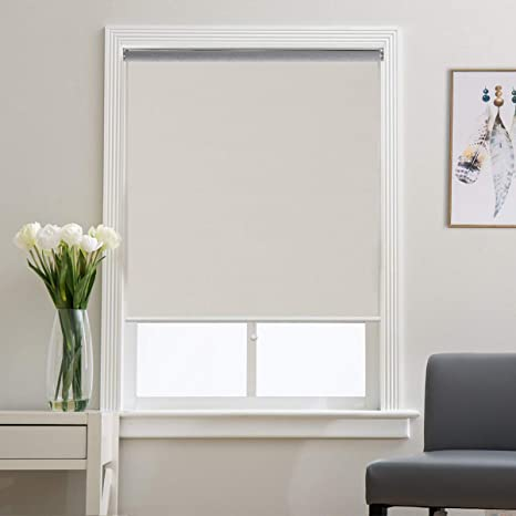 Grandekor Window Blackout Blinds Room Darkening Shade Roller Shades for  Bedroom, Black Out 99% Light & UV, Thermal, Cordless and Easy to Pull Down  & ...