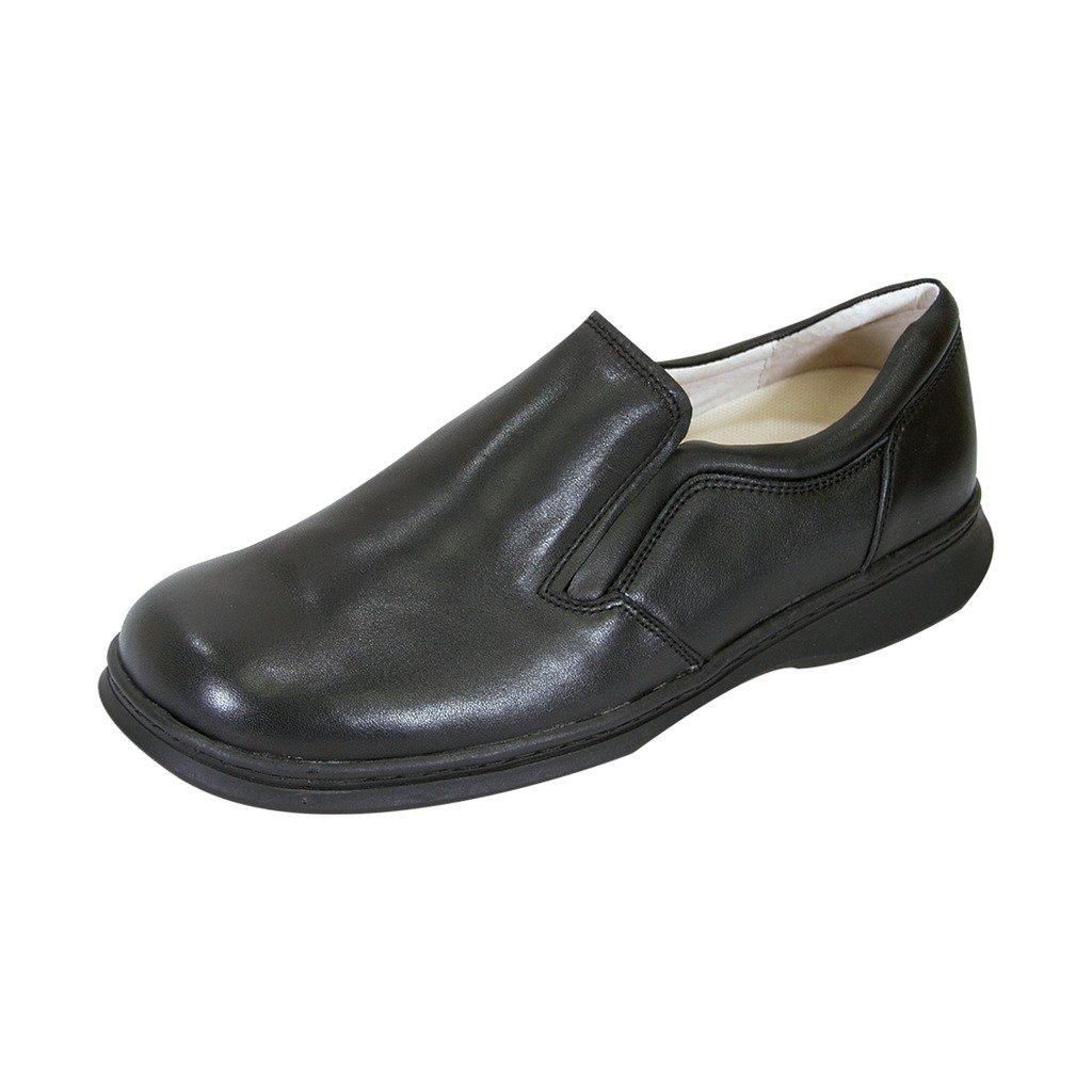 24 Hour Comfort  Jason Men Extra Wide Width Slip-On Shoe Black 8.5