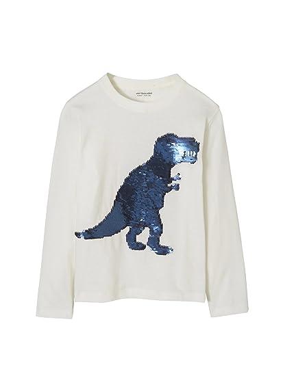 VERTBAUDET Camiseta niño con Lentejuelas Reversibles: Amazon.es: Ropa y accesorios