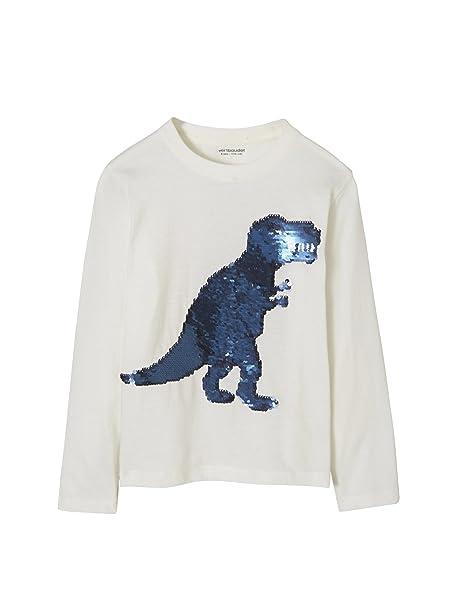 fac18989e VERTBAUDET Camiseta niño con Lentejuelas Reversibles Blanco Claro Liso con  Motivos 18M-2 Anos