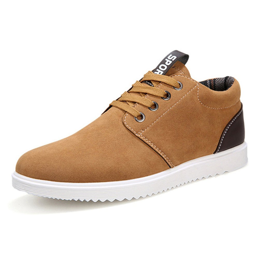 AARDIMI Herren Sneakers Fruuml;hling und Herbst Herren Freizeitschuhe Freizeit Winter Pluuml;sch Fuuml;r Mauml;nner Schuhe Plus Brish Fashion Trend  42 EU|Gelb