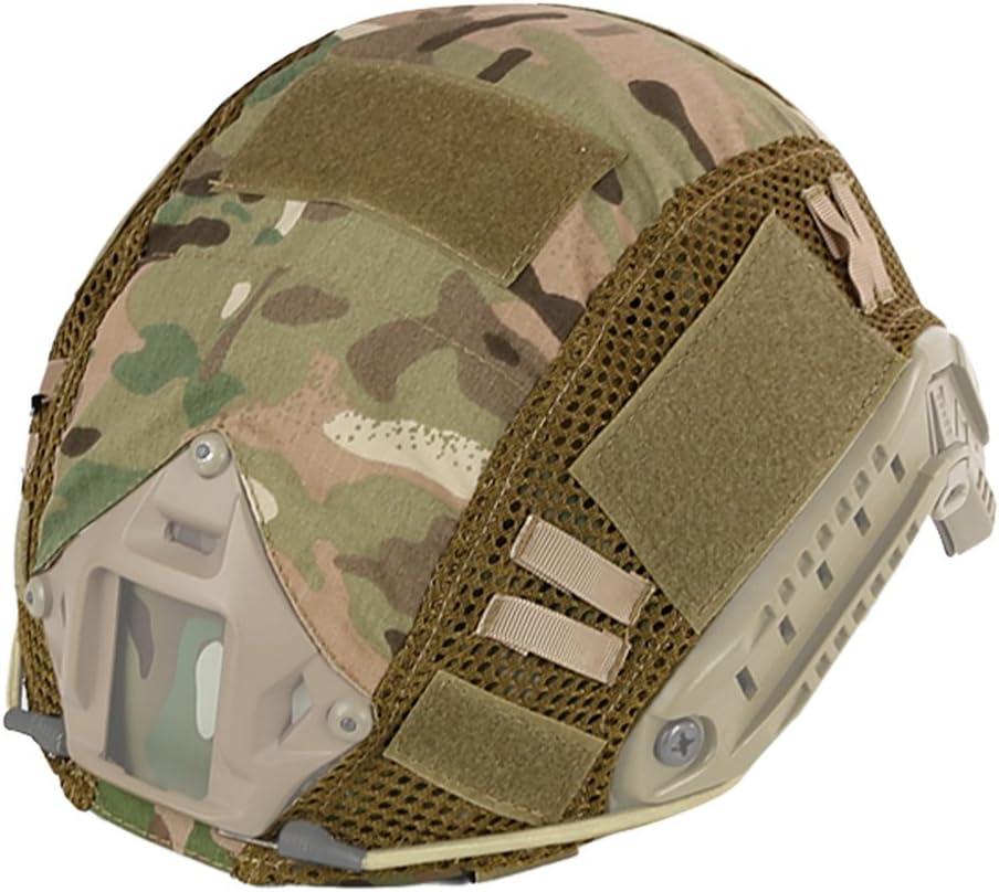 Cubierta de camuflaje Leezo para casco, hecho de nailon, ideal para deportes al aire libre, escalada o camping