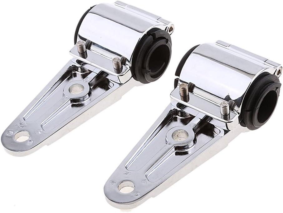 Dolity Silver Motorcycle Headlight Bracket Mount Kit 32mm 35mm 38mm Fork Tubes