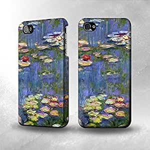 Apple iPhone 4 / 4S Case - The Best 3D Full Wrap iPhone Case - Claude Monet Water Lilies