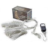 AGPTEK 3M X 3M 8 Modes White Fairy String Lights (300 LED)