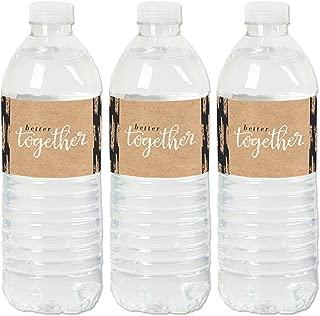 product image for Better Together - Wedding or Bridal Shower Water Bottle Sticker Labels - Set of 20