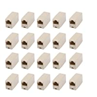 MyArmor RJ45 8P8C Ethernet Network LAN Cat5e Cat6 Cable Joiner Adapter Coupler Extender Connectors Straight Module Adapters (20 pcs)