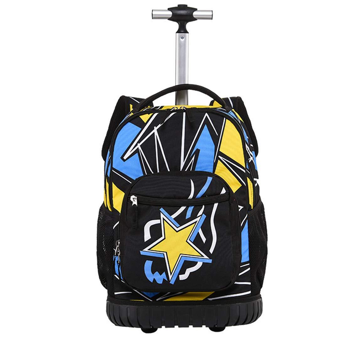 車輪付きバックパックファッショントロリーバッグ学生旅行バッグ旅行用、学校用18