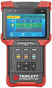 Triplett CamView IP Pro+ All-in-One IP, NTSC/PAL, AHD, and TVI Camera Tester with Built-in DHCP Server (8071)