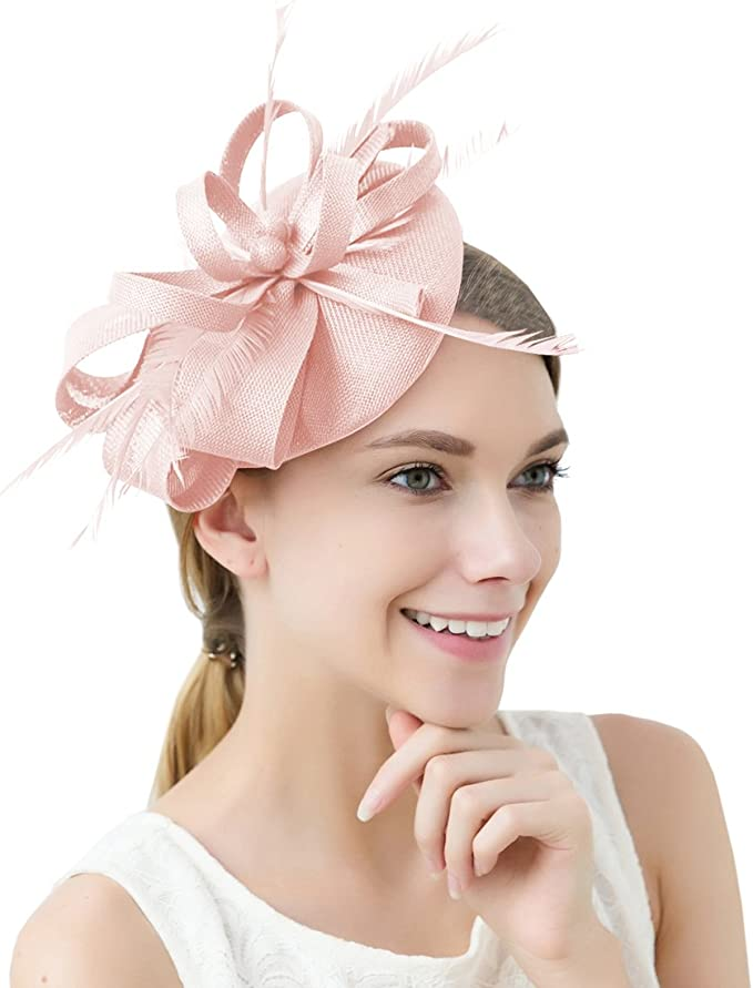 FAYBOX BRIDAL Damen Elegant Fascinator Hut Braut Hair Clip Accessoires Cocktail Royal Ascot