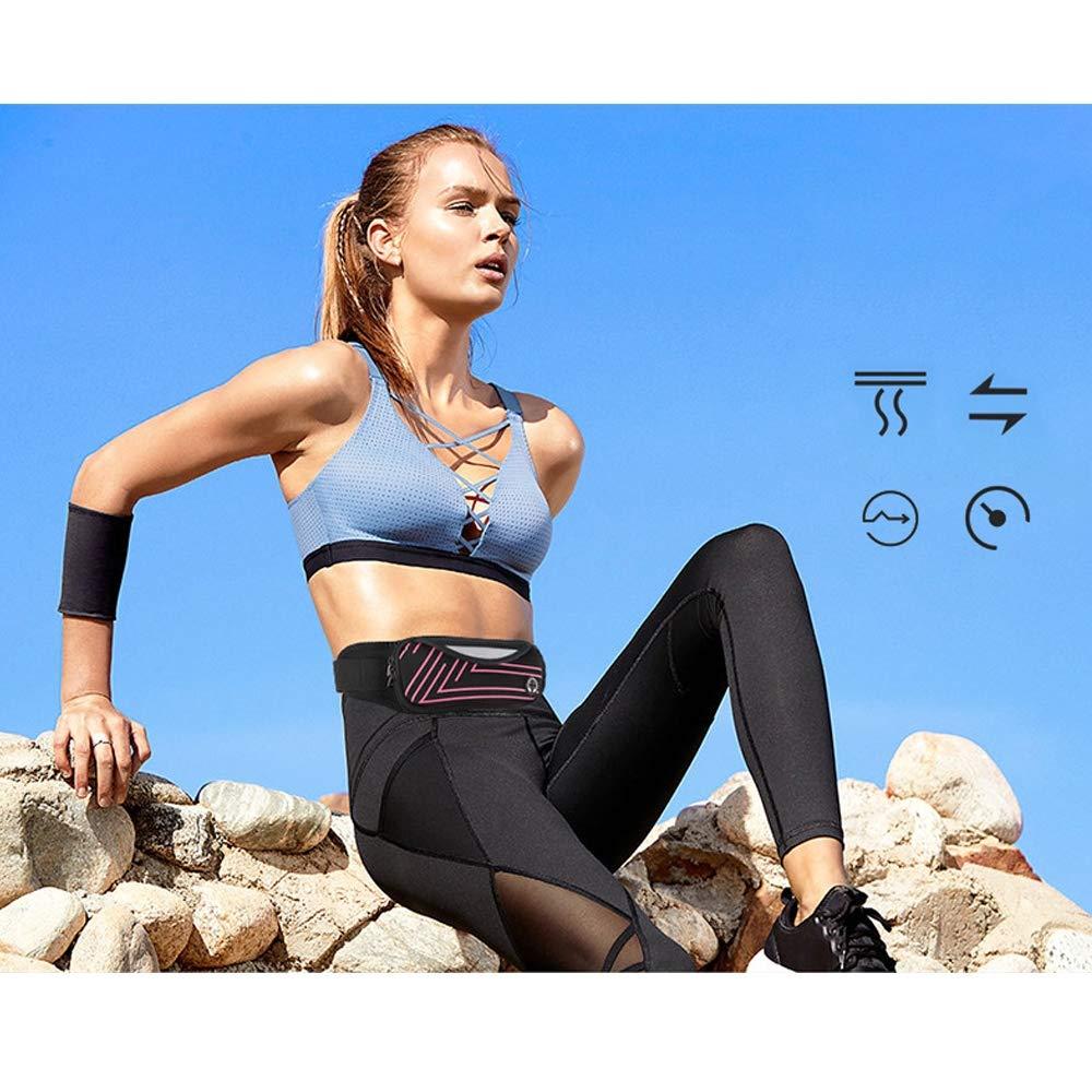 4 Pieces GKPLY Ultra-Thin Running Belt Bag Ultra-Light Bounce Free Pockets Fitness Exercise Belt Sports Pockets Running Pockets for Running Gym Marathon Bikes