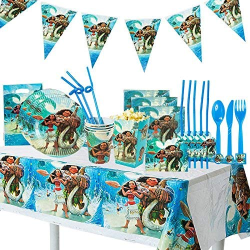 Moana Birthday Party Supplies  - Party Bundle Decorations For 10 Guests -