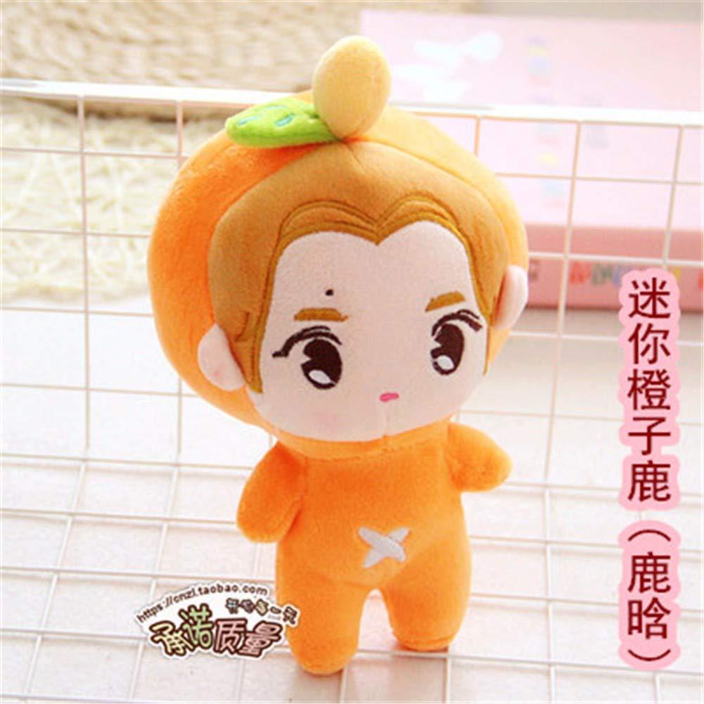 14 DIEIGEIHAO XO member cartoon doll Zhang Yixing Pu Canlie Baidu Can Dog Fox Fox Plush Doll Lu Han Zhong Xiong Doll 23CM, 14