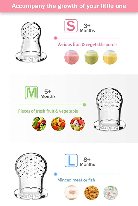 Amazon.com: Food Feeder Baby Fruit Feeder Pacifier (2 Pack ...
