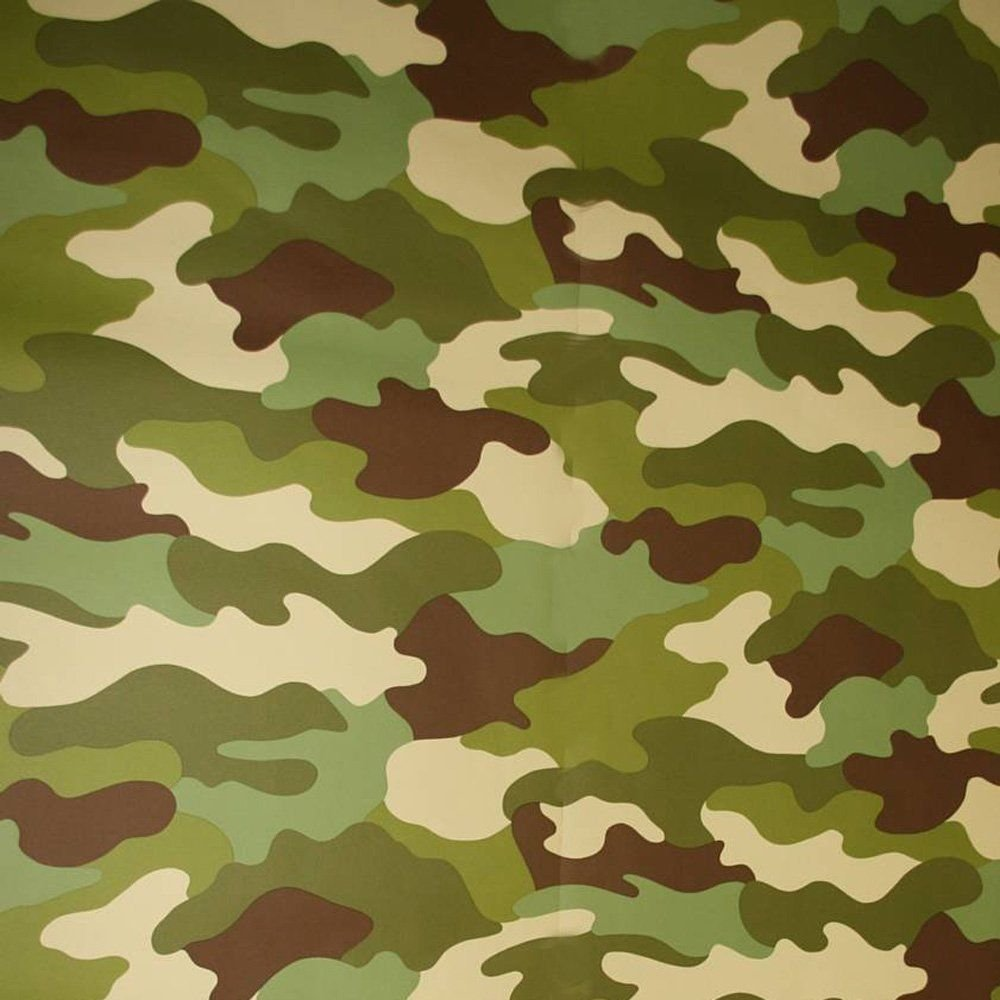 Amazon.com: 10M Roll Of Army Camouflage Camo Wallpaper Kids Bedroom ...