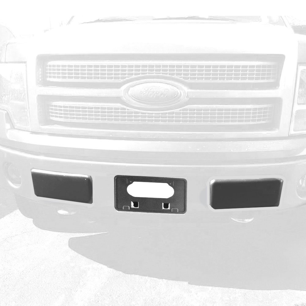 Winunite F150 Bumper Guards Pads Insert Replacement+Front Licenses Plate Frame Bracket Mounting Frame Holder for 2009-2014 F150(Replaces OE Part: FO1068134 and FO1053100) by Winunite (Image #8)