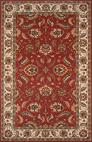 Momeni Rugs Persian Rug (Momeni Rugs PERGAPG-10SAL5080 Persian Garden Collection, 100% New Zealand Wool Traditional Area Rug, 5' x 8', Salmon Red)