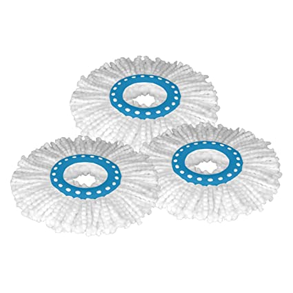 d8d5a05fd Primeway Polyester Microfibre Mop Head Refill, 3 Pieces Set (White on Blue  Ring, 34 cm): Amazon.in: Home Improvement