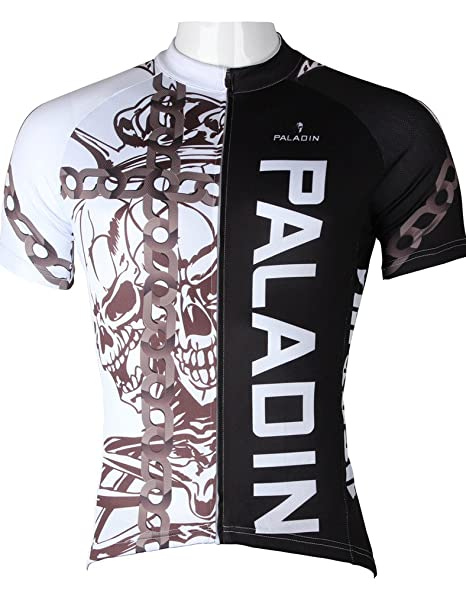 Amazon.com   LAOYOU Chain Skeleton Mens Cycling Jersey Size XS To ... bfa5fbaeb