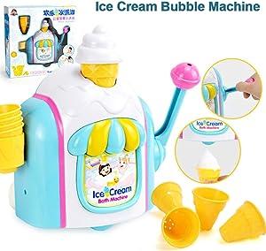 Red-eye Ice Cream Bubble Machine Baby Bath Toys Bubble Ice Creams Maker Foam Factory Bathtub Toy Bathroom Essential Bath Toys