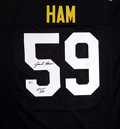 Image Unavailable. Image not available for. Color  Pittsburgh Steelers Jack  Ham Autographed Black Jersey quot HOF 88 quot  Beckett ... 155421c95