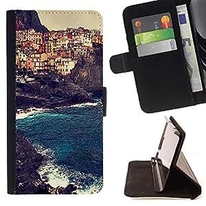 Momo Phone Case / Flip Funda de Cuero Case Cover - Bâtiments Europe de Sun d'été - Sony Xperia M2