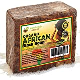 #1 Organic African Black Soap - Best for Acne Treatment, Eczema, Dry Skin, Psoriasis, Scar Removal, Dandruff, Pimples Mark Removal, Anti-fungal Face & Body Wash, Wonderfully Natural Raw Handcrafted Beauty Scrub Bar 100% MONEYBACK GUARANTEE