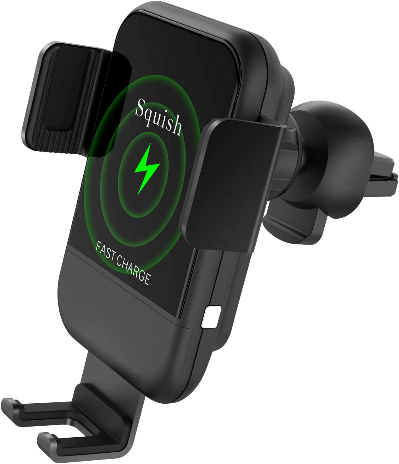 10W 7.5W Qi Fast Wireless Charger Car Phone Holder Automatic Car Charging Mount Compatible with iPhone Xs Max//XS//XR//X//8Plus//8 Samsung S10//S9//S9+//S8//S8+//Note9//Note8 Squish Wireless Car Charger Mount