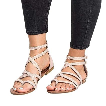27b2a937e2142 Amazon.com: Sandals for Women Bummyo Flat Sandals Summer Sandals ...