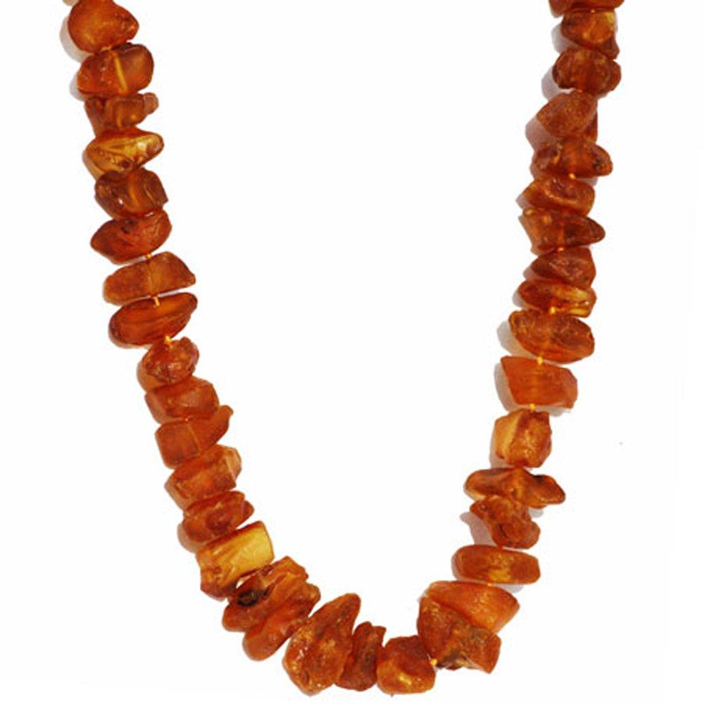 Unpolished Chunky Amber Necklace, 57 gram