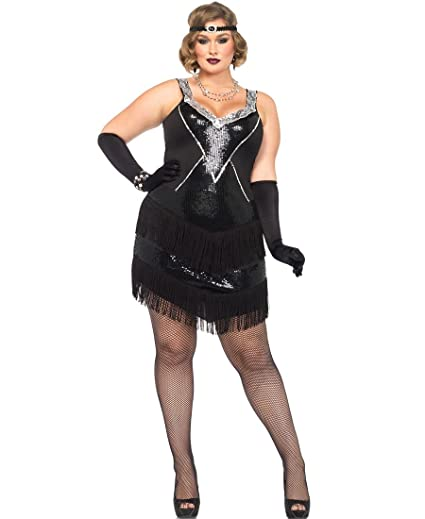 8677747678c Amazon.com  Glamour Flapper Plus Size Adult Costume - Plus Size 3X 4X   Clothing