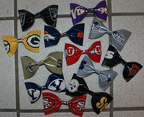 Los Angeles Rams NFL Duct Tape Bobby Pin Hair Bow or Bow Tie