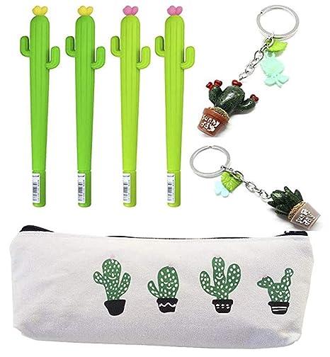 Amazon.com: Fellee - 4 bolígrafos de tinta de gel de cactus ...