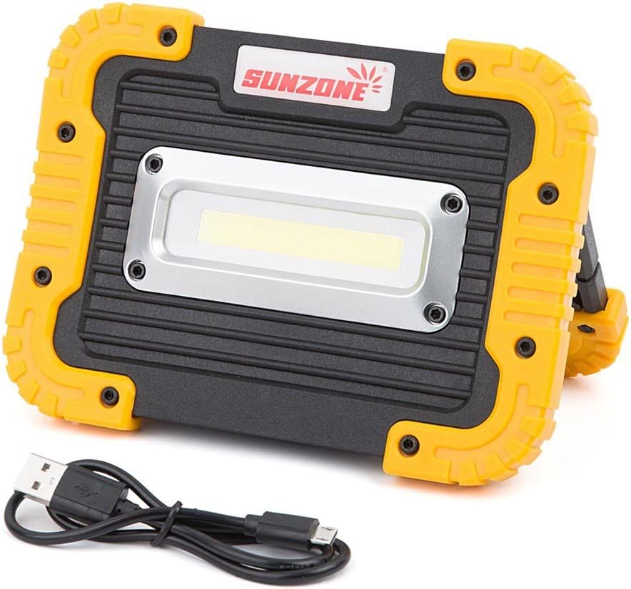 50W Rechargeable COB LED Cordless Thin Portable Work Site Flood Light Camping